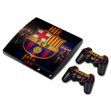 FC Barcelona Vinyl Skin Decal Sticker FOR PS3 SLIM Console + 2 Controllers