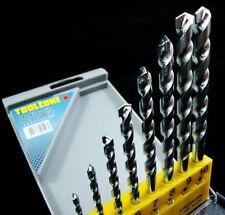 New 8 Pc Masonry Drill Bit Set Zinc Plated Bits Concrete For Dewalt Etc & Case