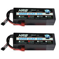 2pcs HRB 11.1V 6000mAh 3S RC LiPo Battery 50C 100C Hard case for Drone Car Boat