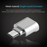 Metal USB Micro SD TF Card Reader OTG Adapter for  Android Phones Card Reader