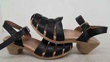 Dansko Size 42 Black Strap Heel Sandal