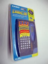 CASIO EZ- LABEL IT! LCD PRINTER MAKER KL-60-L NEW COMPACT TAPE SYSTEM LABELMAKER