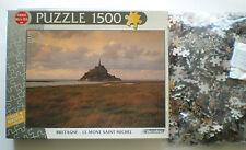 """Puzzle, 1500 Teile, """"Bretagne, le mont Saint Michel"""" Carrefour Rarität Teile ovp"""