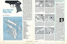 1966 Steyer Model SP Pocket Pistol Parts List & Take Down 2 Pg Print Article