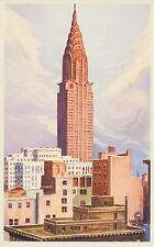 The Chrysler Building, New York, Late Afternoon, NYC, Vintage Postcard