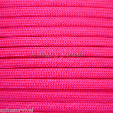 Neon Pink Paracord 100 Foot 550 lb 7 Strand Bracelet Camping Survival Rope