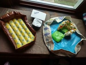 Vintage Lot of 6 Barbie Puff & Play Blow Up Inflatable Furniture and Pool