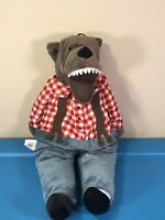 "IKEA LUFSIG Big Bad Wolf Little Red Riding Hood 18"" Plush Stuffed Animal Doll"