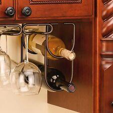 Oil Rubbed Bronze Double Wine Bottle Liquor Holder Kitchen Home Cabinet Decor