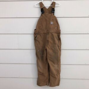 Carhartt FR Bib Overall Unlined Brown Double Front Sz Large