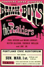 The Beach Boys & the Raiders - Vintage USA Music Concert Poster Art Print