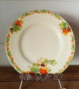 Vintage replacement bread plate Grindley England Autumn