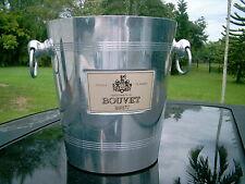BOUVET BRUT PRODUCT OF FRANCE   Ice Cooler Bucket Barware  KNOB & RING  HANDLES