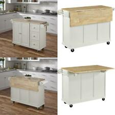 New listing Home Styles Liberty Kitchen Cart With Wood Top - White
