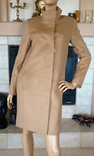 UNIQLO WOMEN BEIGE CASHMERE BLENDED STAND COLLAR COAT NWT SIZE S 149.90$