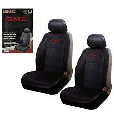 New GMC Elite Synthetic Leather Sideless Car Truck 2 Front Seat Covers Set