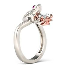 Beautiful Frog and Crown Engagement Ring Size N  1/2.
