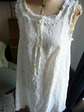 Vintage St Michael Lemon Lacy Chemise Baby Doll Nightie Boudoir
