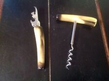 Vintage Bakelite Butterscotch corkscrew wine bottle opener and can opener