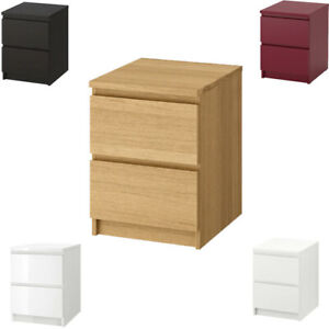 IKEA MALM 2-Drawer Chest Bedroom Bedside Table 40x55 cm Available In Colours