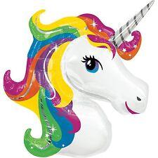 Supershape Rainbow Unicorn Foil Balloon Childrens Birthday Party Decoration