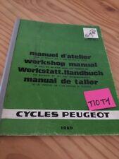 Peugeot vélomoteur revue technique manuel atelier moteur workshop service 1969
