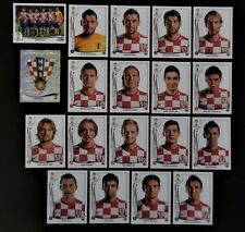 Panini FIFA World Cup Brazil 2014 Complete Team Croatia + Foil Badge