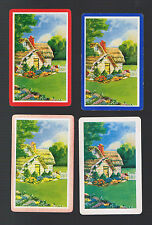 Playing Swap Cards  4  VINT  GENUINE  AWESOME    COTTAGES  &  GARDEN   K117