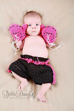 Newborn Baby Crochet Woolen Boxing Gloves Pants Outfit Infant Photography Props