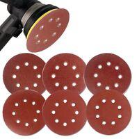 60PCS 5 Inch Sanding Disc Sandpaper 60 80 120 180 240 320 Polishing Pad Grit