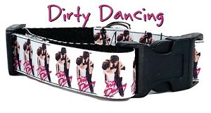 "Dirty dancing dog collar Handmade adjustable buckle collar 1"" wide or leash"