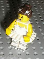 Personnage LEGO castle minifig N°10 serie 15 / Danseuse BALLERINA / NEUF new
