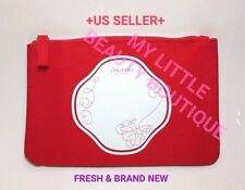 Shiseido Red Zen Japanese Design Cotton Canvas Makeup Cosmetic Pouch Bag NEW