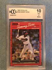 1990 Donruss Sammy Sosa Rookie Card Graded By Beckett BCCG 10 MINT Or Better RC