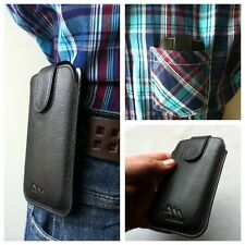 Samsung C3350 / ASSEM echt leder Gürteltasche Handy Tasche Hülle Etui case
