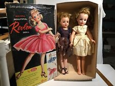2 Vintage Ideal Rubber Dolls & Box - Revlon Vt-18 & Vt-20