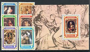 Briefmarken Turks und Caicos 1977 ** postfrisch Nr: 374 - 379 + Block 8 BR569