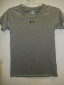 1605-30 Womens UNDER ARMOUR Short  Sleeve Shirt 1268481 090 Dark Gray $22.99 New