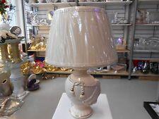 Elegante Medusa   Keramik Tischlampe Nachttischlampe Crem/Gold.
