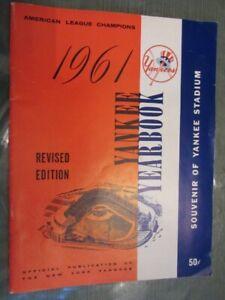 1961 New York YANKEES YEARBOOK -Revised -Mantle, Maris, Berra, Howard Exc.