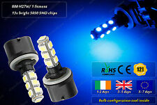 2x 880 H27W/1 LED Xenon Blue Strobe Police Garda Look Flashing Strobe Bulbs 12v