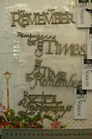 CHIPBOARD Wordlets TIME to REMEMBER etc - 4 Mixed Design Choice Scrap FX W2