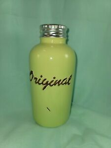 """Flower Bud Vase Shabby Chic Green Distressed Farmhouse Country Ceramic 6½"""" Tall"""