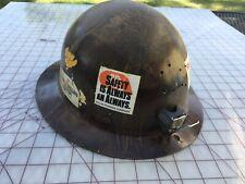 Vtg Msa Skullgard Miners Safety Helmet Hard Hat Full Brim -Usa-