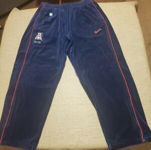 Arizona Wildcats Nike Men's 2XL RARE vintage velour warmup basketball pants