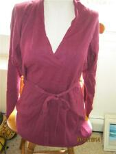 Oh Baby by Motherhood maternity belted cranberry sweater sz L NWT RV$50