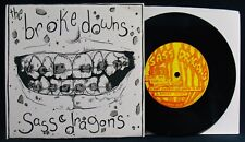 THE BROKEDOWNS+SASS DRAGONS~2008 Punk Rock Picture Sleeve+45-CASSETTE DECK #11