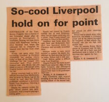 Nottingham Forest v Liverpool Newspaper Report Cutting 28th April 1979