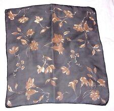 Laura Ashley Very Elegant Flower Design 100% Luxurious Sheer Chiffon Silk Scarf!