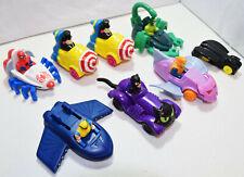McDonalds Happy Meal Batman & Spiderman Marvel DC Vehicle Toys Lot 1991-1996